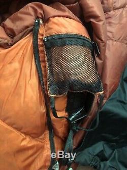 Marmot 0° F /-18C Goose down sleeping bag, 800 fill Desert Rock Orange red M