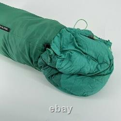 Marmot Angel Fire 650 Down Filled Mummy Sleeping Bag 21.6 Degrees F / -4 C Euc