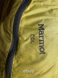 Marmot COL -20 Degree 800 Fill Down Sleeping Bag Reg R Zip