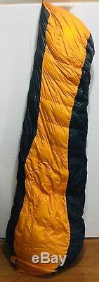 Marmot COL EQ -20F -29C 800 Down Winter Sleeping Bag Size LONG With Silk Liner