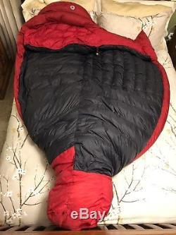 Marmot CWM -40C/F Long Nylon Down Sleeping bag with MemBrain waterproof fabric