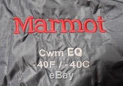 Marmot CWM EQ -40 Down Sleeping Bag, Size- Regular, Used, Excellent Condition