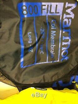Marmot Col Sleeping Bag long Used in Excellent Condition