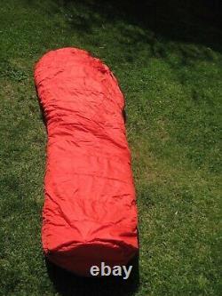 Marmot Gore Tex 100% Goose Down Long Sleeping Bag Red with Storage Bag USA EUC