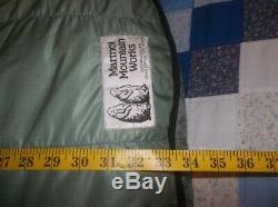 Marmot Green! Gopher Goose Down Sleeping Bag Goretex Lofty Vintage NICE -20 USA
