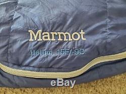 Marmot Helium 15° F/-9°C Sleeping Bag Regular LH EXCELLENT CONDITION