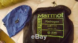 Marmot Hydrogen 800 FP Down 30°F Sleeping Bag Long Left NWT