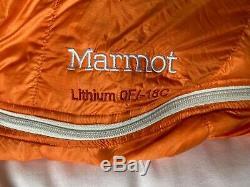 Marmot Lithium (0F/-18C) Regular Sleeping Bag 850 down fill
