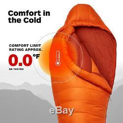 Marmot Lithium 0F Degree Down Sleeping Bag Blaze/Dark Rust Reg/Left Zip