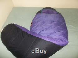 Marmot Mountain Aiguille 800 Goose Down Gore-tex DryLoft Sleeping Bag Purple Reg