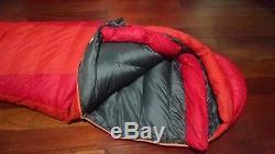 Marmot Never Summer 0 zero degree sleeping bag 650 down long LZ ultralight EUC