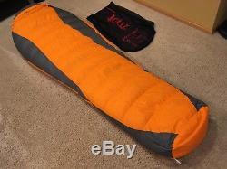 Marmot Never Summer Sleeping Bag 0 Degree 600 Down Long Left Zipper
