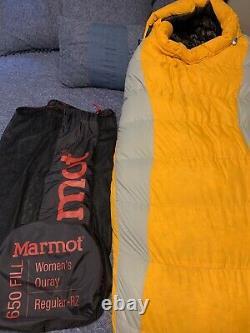 Marmot Ouray Sleeping Bag Women's, 0F Down, Right Zip