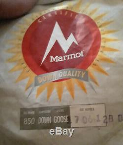 Marmot Phase 20 850fp Goose Down Sleeping Bag Regular Left Zip (nwt)