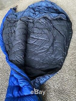 Marmot Pinnacle 15F Micro Fiber 800 fp Goose Down Sleeping Bag Long Excellent