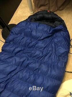 Marmot Pinnacle 15 Degree Down Sleeping Bag, Left Zip Long Free Silk Liner
