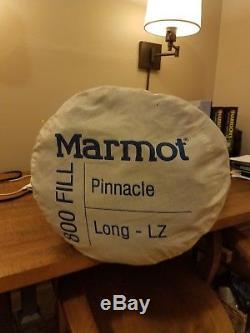 Marmot Pinnacle 800 Fill Down 15° Fahrenheit Sleeping Bag Long