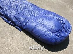 Marmot Plasma 15-Deg Lightweight Goose Down RH Long Mummy Sleeping Bag 31 x 90