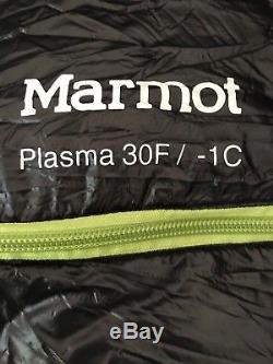 Marmot Plasma +30 900 Fill goose down Sleeping bag Regular