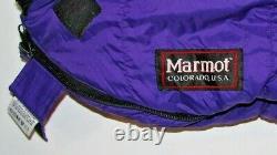 Marmot Purple Goose Down Fill Sleeping Bag Long EUC