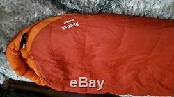 Marmot Rampart 5 degree down 650 sleeping bag long 6' 6 New