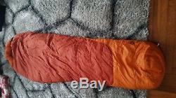 Marmot Rampart 5 degree down 650 sleeping bag long 6' 6 New