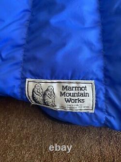 Marmot Rectangular Mummy Quilt Down Sleeping Bag Regular 30F Backpacking Double