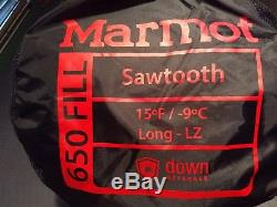 Marmot Sawtooth 15F down sleeping bag-Long
