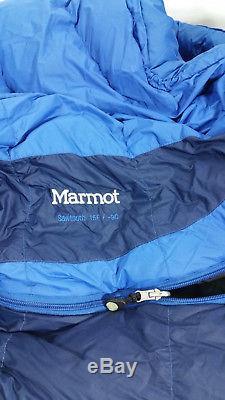 Marmot Sawtooth Long LZ, 15F, -9C, 600 Fill Down Sleeping Bag, Blue