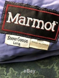 Marmot Snow Goose Down Sleeping Bag Long