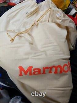 Marmot Zero Degrees Goose Down Sleeping Bag gossamer, long, left side open mummy