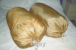 Mated Pair Vintage HOLUBAR Down Fill Sleeping Bags, long and regular