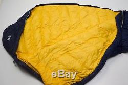 Men's REI Radiant Plus LONG/WIDE Mummy Duck Down Sleeping Bag Backpacking Navy