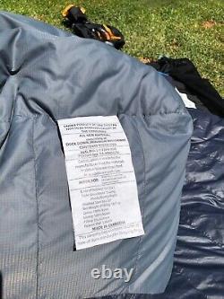 Mens NEMO Disco 15 Long Down Sleeping Bag Stuff Sack and Mesh Storage Sack $320