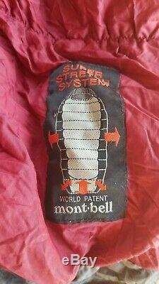 Mont-bell, Montbell Down hugger 650 #3 long 25 degree down sleeping bag Crimson