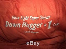 Montbell Sleeping Bag Ultra Light Super Spiral Down Hugger #1 Long Left Zipper