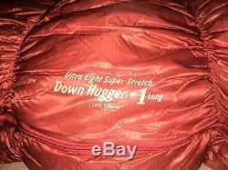 Montbell Super Stretch Down Hugger #1 +15 Mummy Sleeping Bag Long Left New