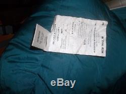 Moonstone Muir Trail Regular 30F 800fp Goose Down Sleeping Bag Vintage Soft Teal