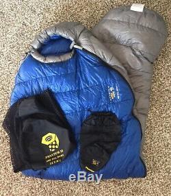 Mountain Hardware Phantom 32 Down Sleeping Bag 800 Fill Goose Light 78x32