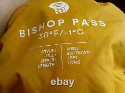 Mountain Hardwear Bishop pass Sleeping Bag 30F Long Down