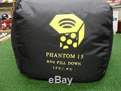 Mountain Hardwear Phantom 15 Degree 800 Fill Down Sleeping Bag 78 x 30 Reg
