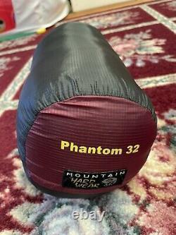 Mountain Hardwear Phantom 32 Down 800 Fill Sleeping Bag EUC Regular Length