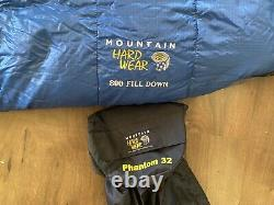 Mountain Hardwear Phantom 32 Sleeping Bag 800 Down fill Lightweight & Clean