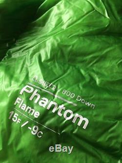 Mountain Hardwear Phantom Flame 15º Long 800 fill down sleeping bag NWT