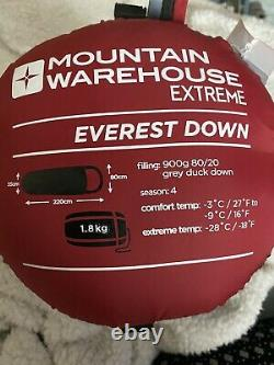 Mountain Warehouse Extreme Everest Down Sleeping Bag And Silk Liner