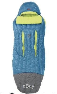 NEMO Men's Disco 15-Degree Insulated Down Sleeping Bag, Deep Sea/Key Lime