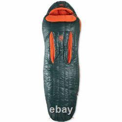 NEMO Riff 15 Degree Long Down Sleeping Bag-Ember Red/Deep Water-Regular