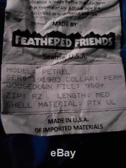 NEW'18 Feathered Friends Women's Petrel UL 10° Down Sleeping Bag 950 Down Fill