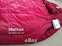 NEW Marmot CWM Sleeping Bag -40F/ -40C, 800 Fill Goose Down, Regular size