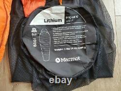 NEW Marmot Lithium 800 Down 0 Degree Sleeping Bag Long